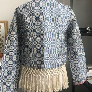 tularosa jacket with fringe detail